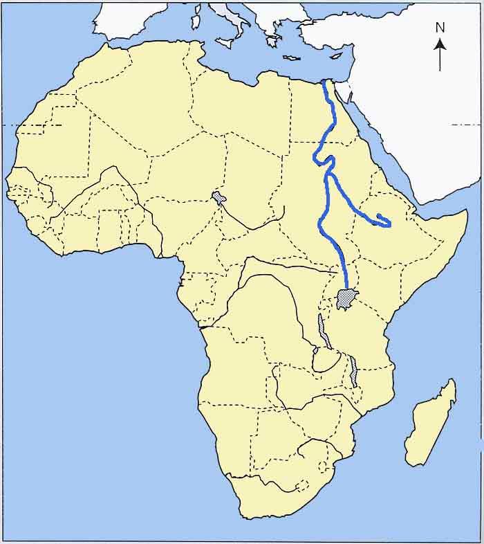 Carte Afrique Nil.Le Nil Carte Afrique Vacances Arts Guides Voyages